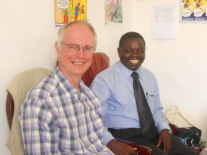 Rev Gadlord Deuli with John Carney of Busega Scotland