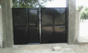 Front gate painted Mayega